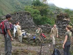 Visiting an Inca ruin