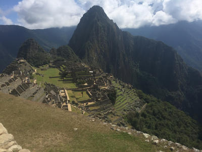 A view of Machu Picchu in Peru