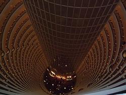 Inside of skyscraper