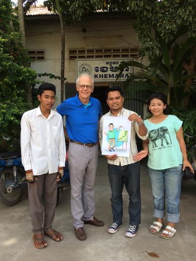 Micro-finance volunteers and local staff in Cambodia