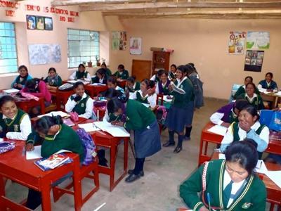 Classroom at my Peru school