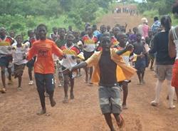 Kids after football match