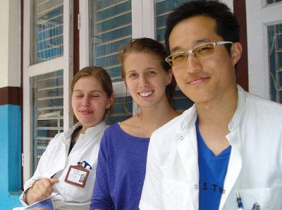 With other medical volunteers