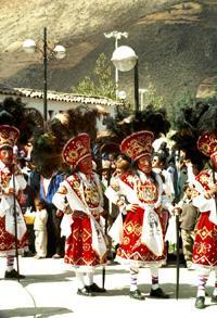 Dancers at festival in Calca
