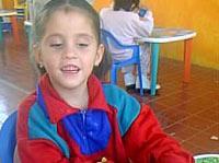 Child at blind school