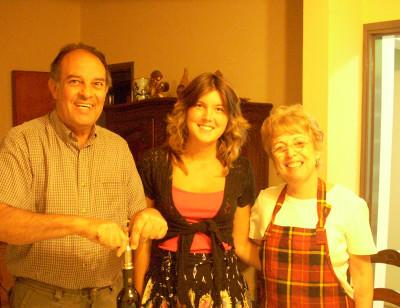 With my host parents