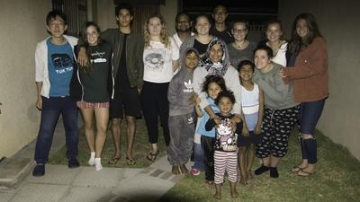 Volunteers and their host family