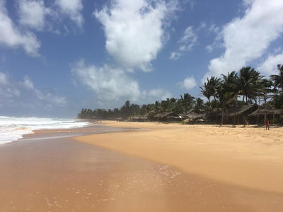 A beach in Sri Lanka