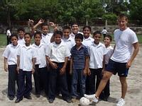 With children at school