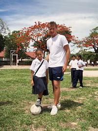 With star girl footballer