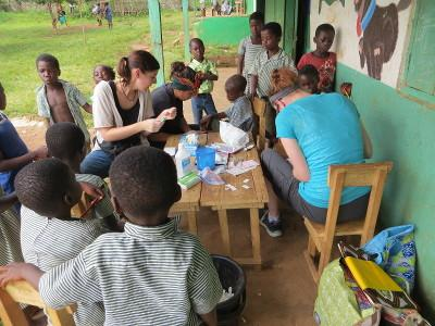Outreach work in Ghana