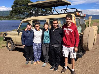 Emily on a safari in Tanzania