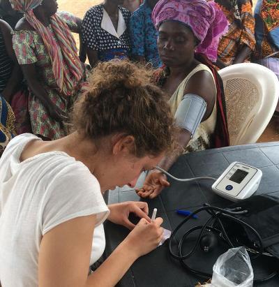 Outreach work in Ghana