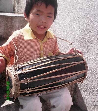 Child with drum