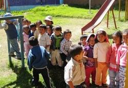 The children at Huayocari Kindergarten