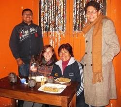 Trying new tastes in Peru