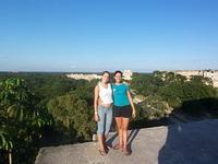 Visting Mayan ruins
