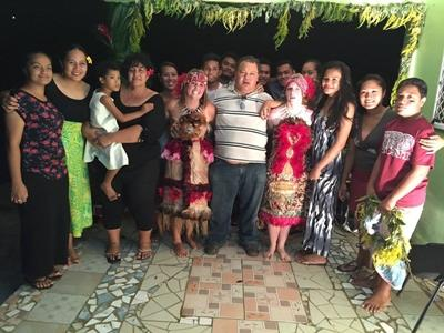 Host family in Samoa