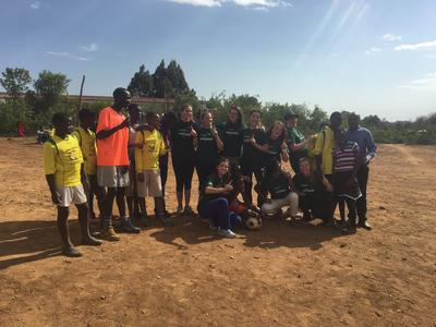 A game of soccer in Kenya