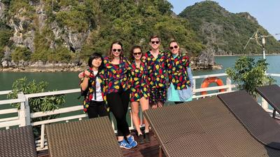 Volunteers experience the beauty of Vietnam during their free time