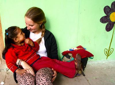 Florence volunteering in Peru