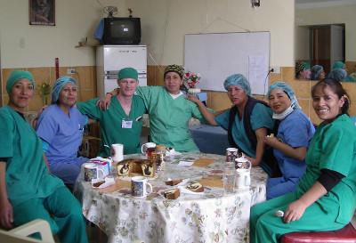 With theatre nurses