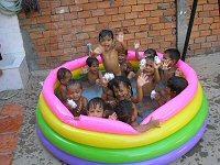 Paddling pool fun