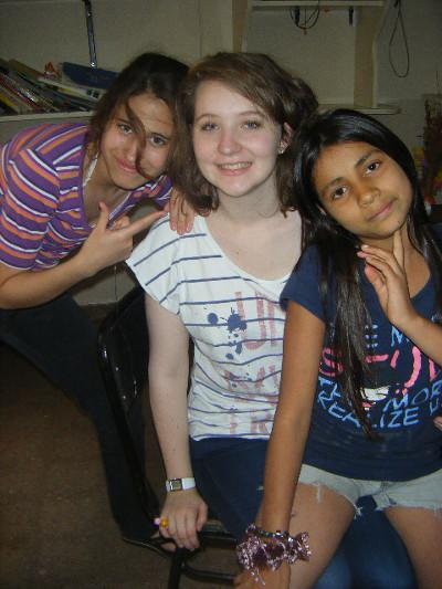 Volunteer and host family in Argentina