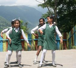 Children dancing in Nepal