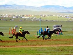 Horse racing in Mongolia