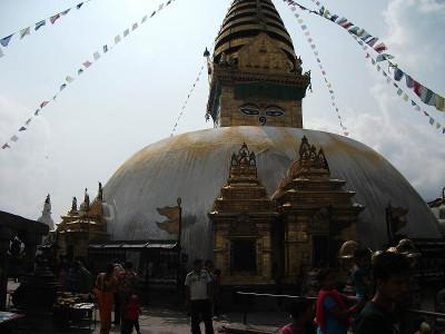 Visiting temple in Nepal