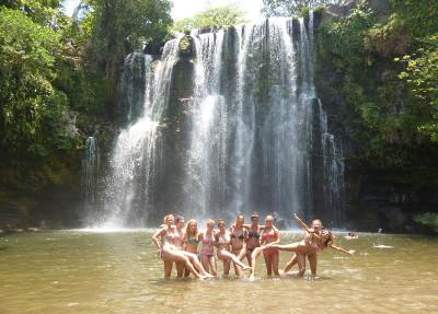 Volunteer trip to waterfalls in Costa Rica