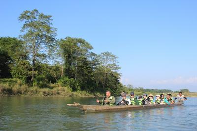 Salisbury College boat trip Nepal