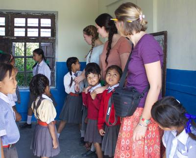 Salisbury College students help in Nepalese school