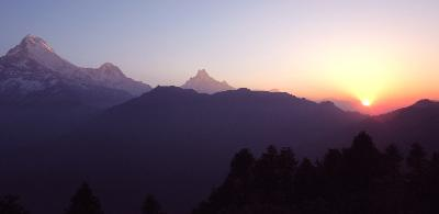 Sunset in the Himalayas