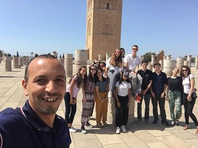 A group of high school students volunteering in Morocco