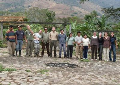 Inca project volunteers and staff