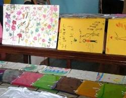 The childrens artwork