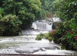 The waterfalls we swam in
