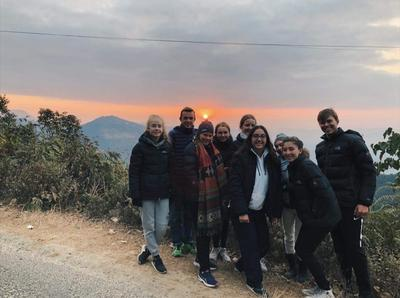 High School Special volunteers enjoying the sunset in Nepal