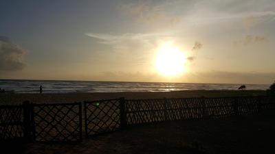The sunrise in Sri Lanka