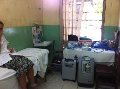 Hospital emergency room in Tanzania