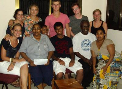 Volunteer's host family in Tanzania