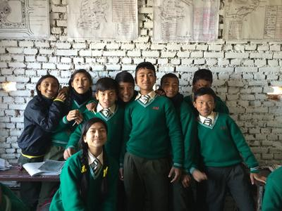 The children at the Teaching placement in Nepal