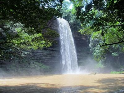 Boti falls in the Akuapem Hills Region