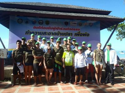 Conservation volunteers in Thailand