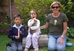 With host's children