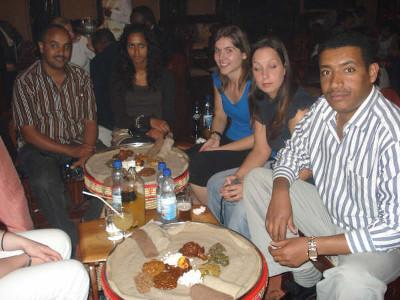 Dinner with volunteers and staff