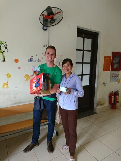 Soap donated by volunteers in Vietnam