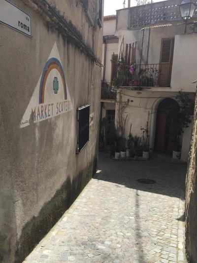 Narrow streets in Italy
